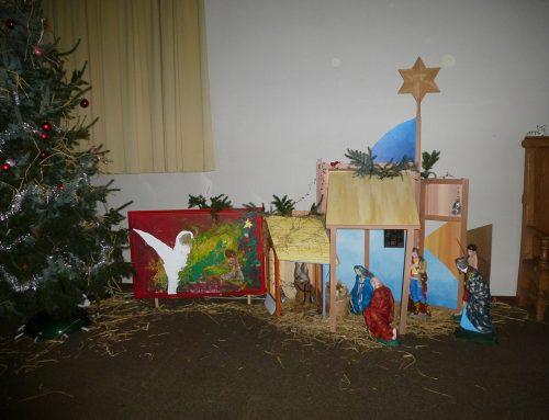 Kerstkaart in kerk